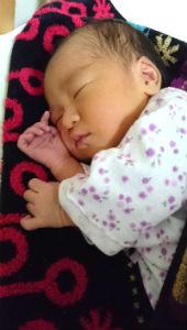谷町線しおかわ鍼灸接骨院の不妊鍼灸でご懐妊の赤ちゃんの画像