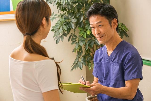 千林しおかわ鍼灸整骨院の冷え性のお灸の問診カウンセリングの画像