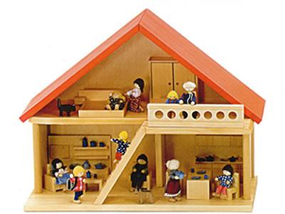 家具付人形の家