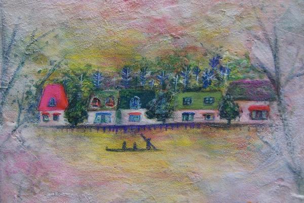 流れる街(13.5×18.5cm)2012年