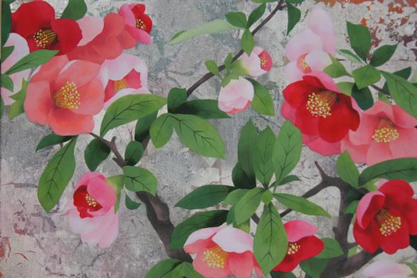ボケの花(22.0×27.3cm)2015年