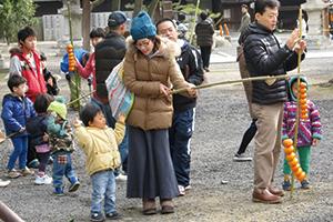 庭燎祭(おみかん焼き)